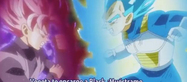 Black rose y vegeta dios azul dbsuper