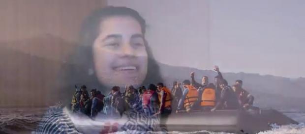 Gabriela Shapazian, brasileira de 16 anos, socorre os refugiados na Grécia