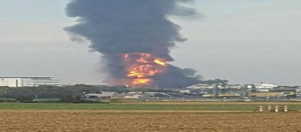 L'esplosione dello stabilimento Basf di Ludwigshafen.