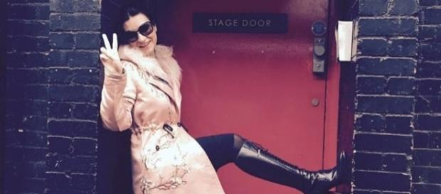 "Laura Pausini a Londra, nel ""Stage Door""."