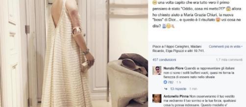 Bebe Vio svela il suo abito su Facebook