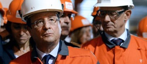 François Hollande à Florange Challenges.fr