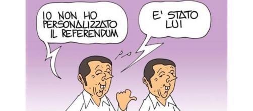 Vignetta satirica sul referendum del 4 dicembre