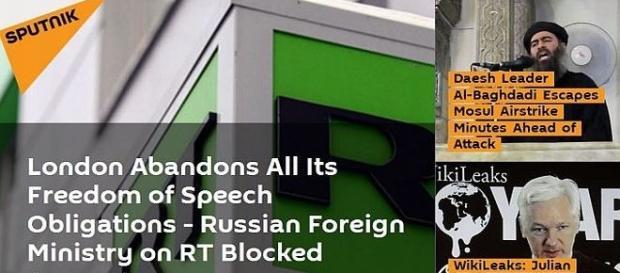 La mesure bancaire visant Russia Today a été largement répercutée par la presse russe dans le monde