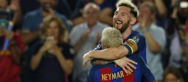 Messi e Neymar estarão em campo na quarta-feira, para enfrentar o Manchester City, em Barcelona.