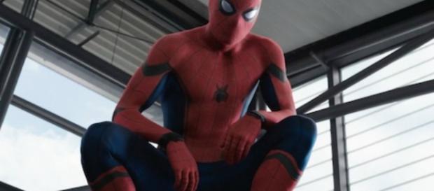 """O ator Tom Holland como """"Homem Aranha"""""""