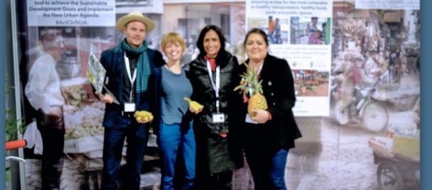 Participantes en la Conferencia Mundial Habitat III auspiciada por la ONU en Quito Ecuador.