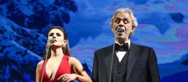 Paula Fernandes e Andrea Bocelli