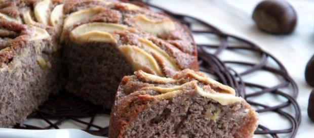 Ricetta senza lattosio: torta castagne e mele