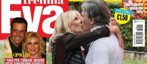 Il bacio tra Gemma e Giorgio in copertina su Eva Tremila