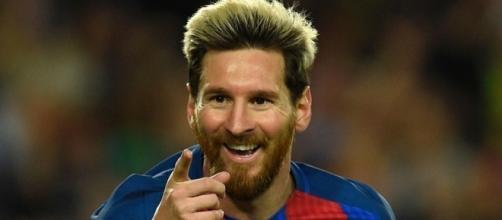 Lionel Messi durante un'esultanza.