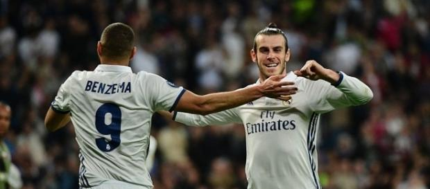 Bale celebrando su gol en el partido frente al Legia