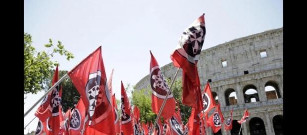 Casapound Italia manifestazione a Roma