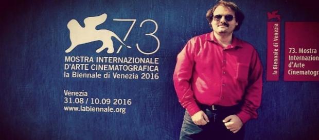 Il regista Alfonso Perugini al Festival di Venezia.