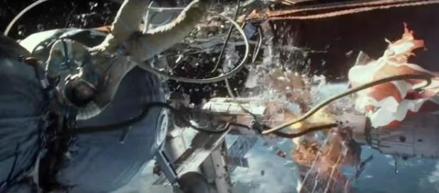Space debris destroyed the shuttle in 'Gravity.' YouTube (Paramount Pictures - screencap)