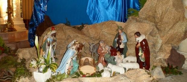 Une crèche de Noël, ici dans une église (saint-Jean-Baptiste-de-Percy)