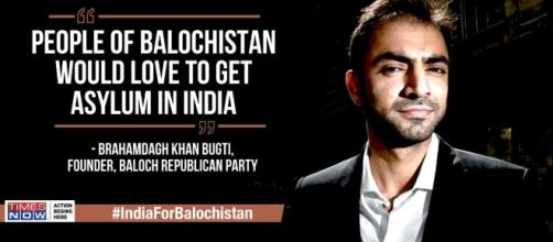 "Brahamdagh bugti speaks to @timesnow, says ""people of baloch want ... - scoopnest.com"