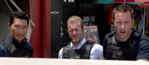 "Chin, Danny, and McGarrett in ""Hawaii Five-0""/Photo via screencap, ""Hawaii Five-0"""