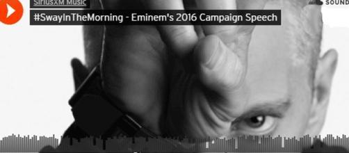 Dans un long premier morceau de son futur album, Eminem appelle à ne pas voter Trump