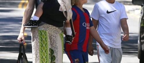 Gwen Stefani avec ses trois fils