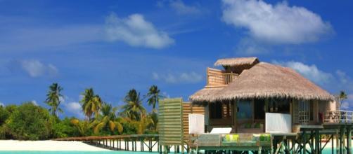 Laamu, en Maldivas, es donde están ahora los recién casados.