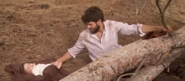 Bosco e Beltran intrappolati sotto un albero