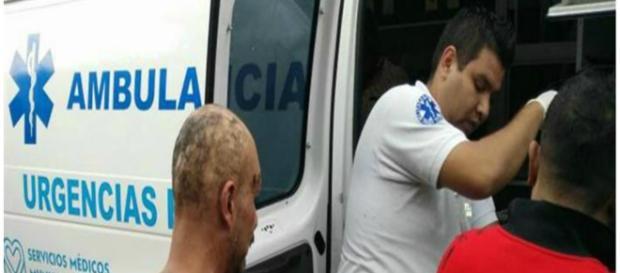 Feridos foram transportados para o hospital