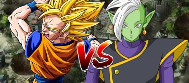GOKU VS ZAMASU DEL FUTURO DBSUPER