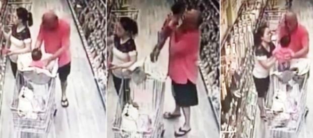 Homem tenta sequestrar criança no mercado