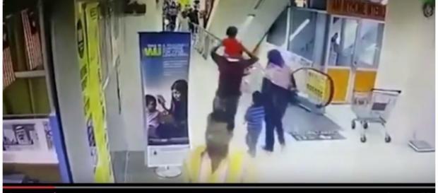 Momento foi captado pelas câmeras de segurança