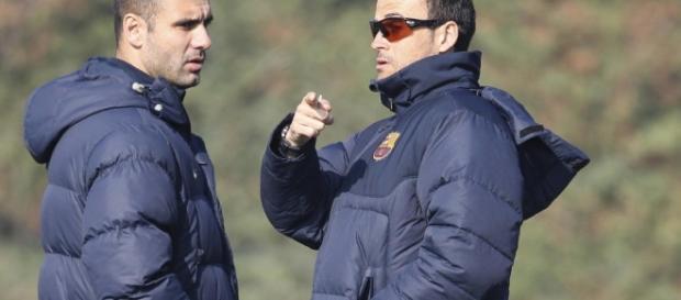 """Pep Guardiola y Luis Enrique, duelo de """"amigos"""" en Champions League. Foto: EFE"""