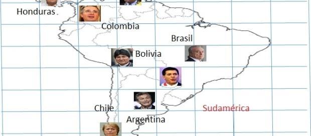 Tablero geopolítico de Sudamérica