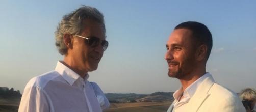 Andrea Bocelli e Raoul Bova ad Amatrice