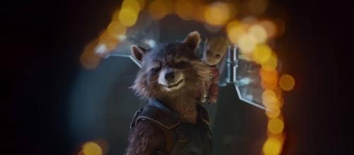 Groot sobre el hombro de Rocket en el avance de la secuela
