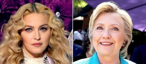 """Madonna scende in campo per Hillary in un modo """"indecente"""""""
