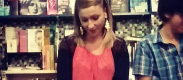 """Agnese Palermo presso la libreria """"Tuba Bazar"""" in via del Pigneto lo scorso settembre."""