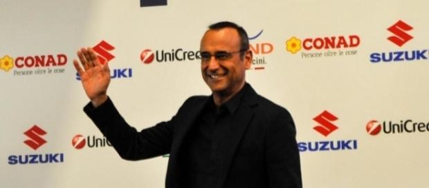 Carlo Conti, conduttore del Festival di Sanremo per la terza edizione consecutiva.