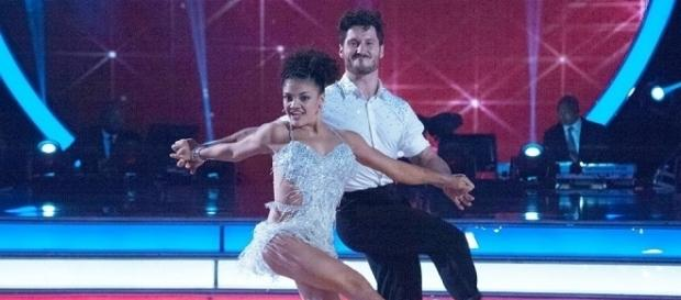 """""""DWTS"""" Laurie Hernandez and Val Chmerkovskiy (Photo Credit: ABC Television)"""