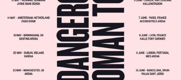 Le tappe del Dangerous Woman Tour di Ariana Grande