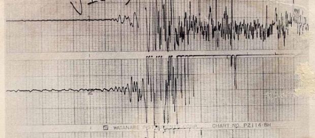 Un sismografo che segnala la scossa.