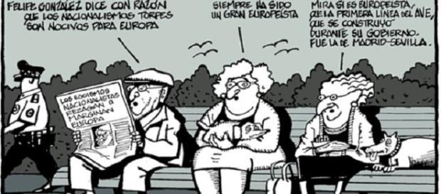 Uno de los muchos chistes de Ferreres en El Periódico de Catalunya sobre Felipe González.