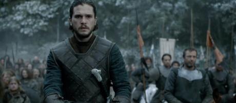 Jon Nieve, durante la 'Batalla de los Bastardos'.