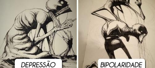 10 doenças mentais retratadas em ilustrações assustadoras