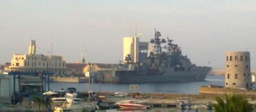Destructor ruso Severomorsk en el puerto de Ceuta.