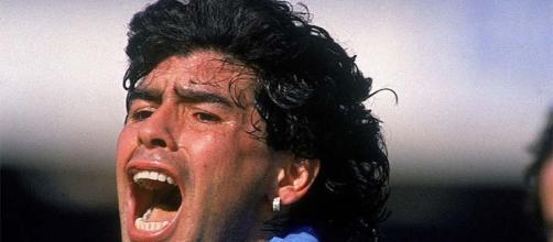 Diego Armando Maradona con il Napoli