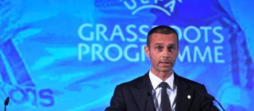 Il Presidente della Uefa, Ceferin