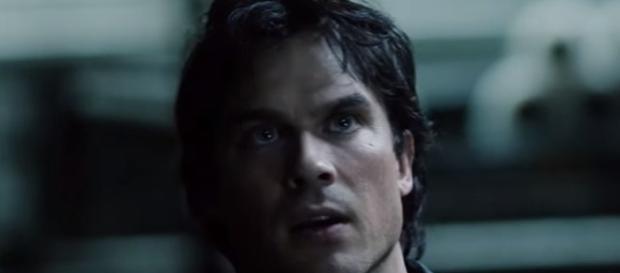Damon off the rails in season 8 via YouTube The CW