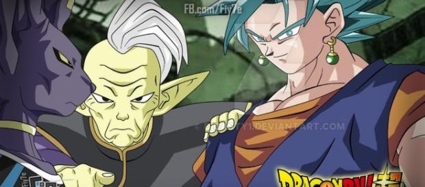 Dragon Ball Super: Bills y Gowasu viajan al futuro con los arcillos potara