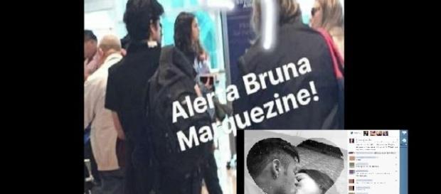 Foto montagem: Marquezine é flagrada em aeroporto