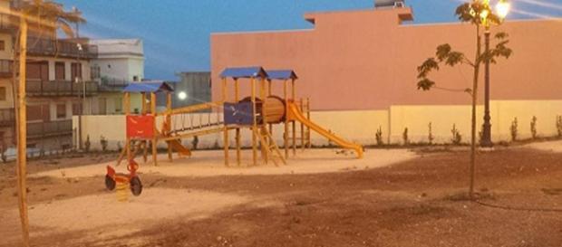 L'area giochi della villa comunale di Solarino